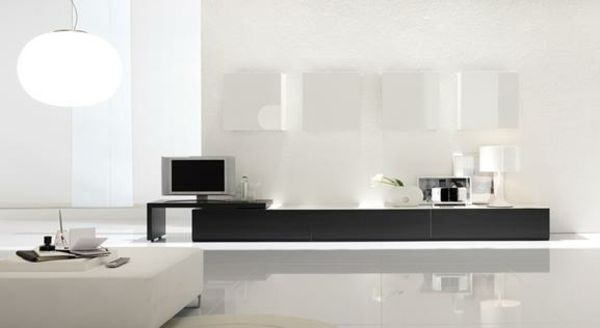 glanz fußboden wohnzimmer möbel modern trendy stehlampe rund - bilder wohnzimmer modern