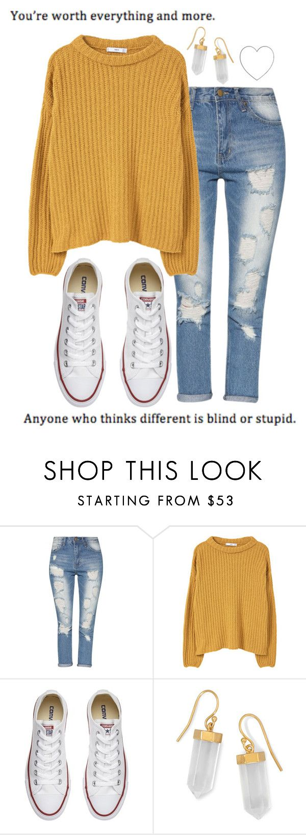 """Sin título #113"" by sheeriogirl ❤ liked on Polyvore featuring MANGO, Converse and BillyTheTree"