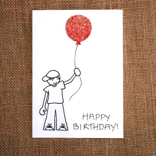 I Love The Simple Drawing And Cute Red Balloon Happy Birthday