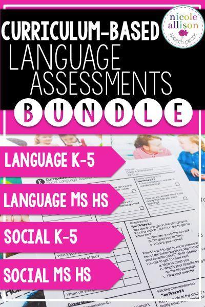 Money saving assessment bundle for language and social language!