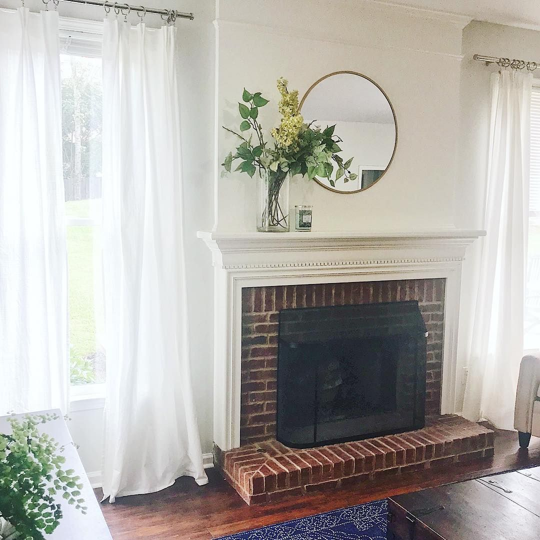 Spring Living Room -- IKEA Curtains; Polished Nickel