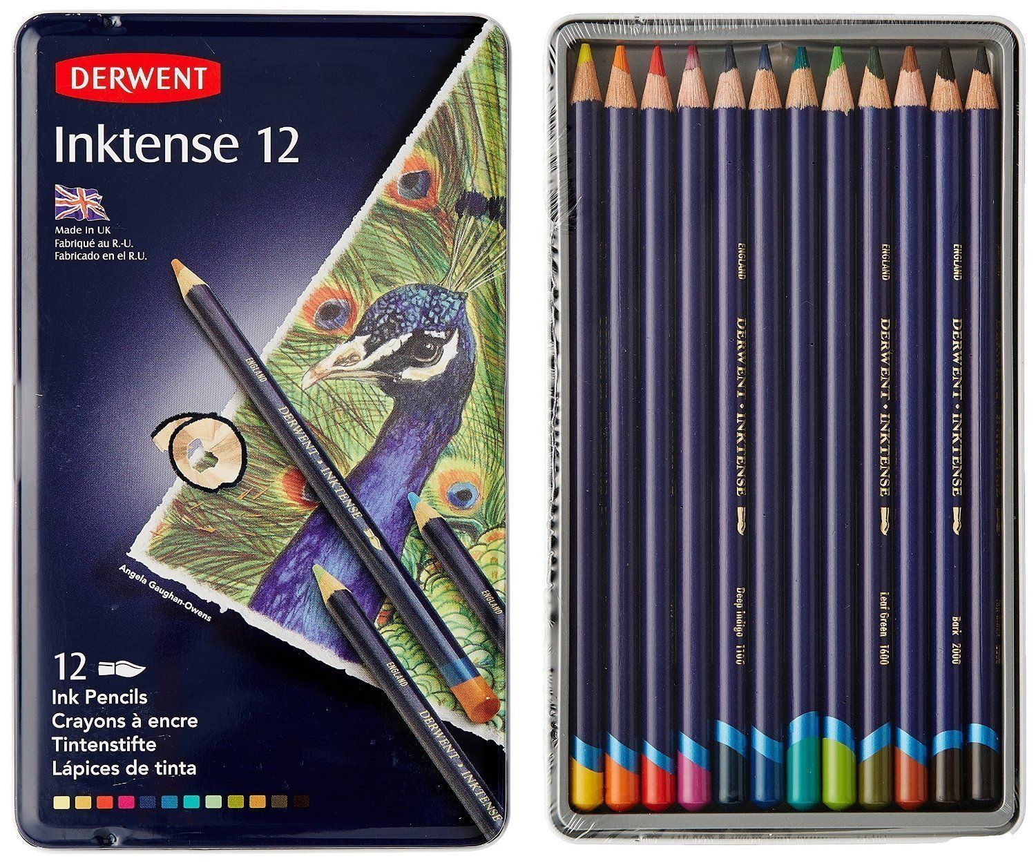 Amazon Com Derwent Drawing Pencils Inktense 4mm Core Metal Tin