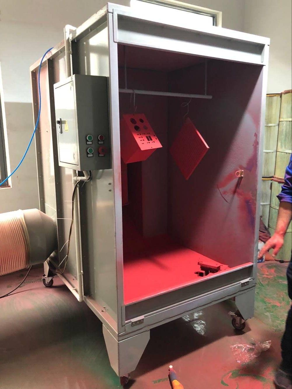 powder spray booth powder coating