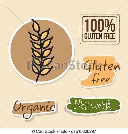 Vector - gluten free - stock illustration, royalty free