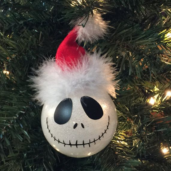 Halloween Nightmare Before Christmas Inspired Jack Glitter Ornament - the nightmare before christmas decorations