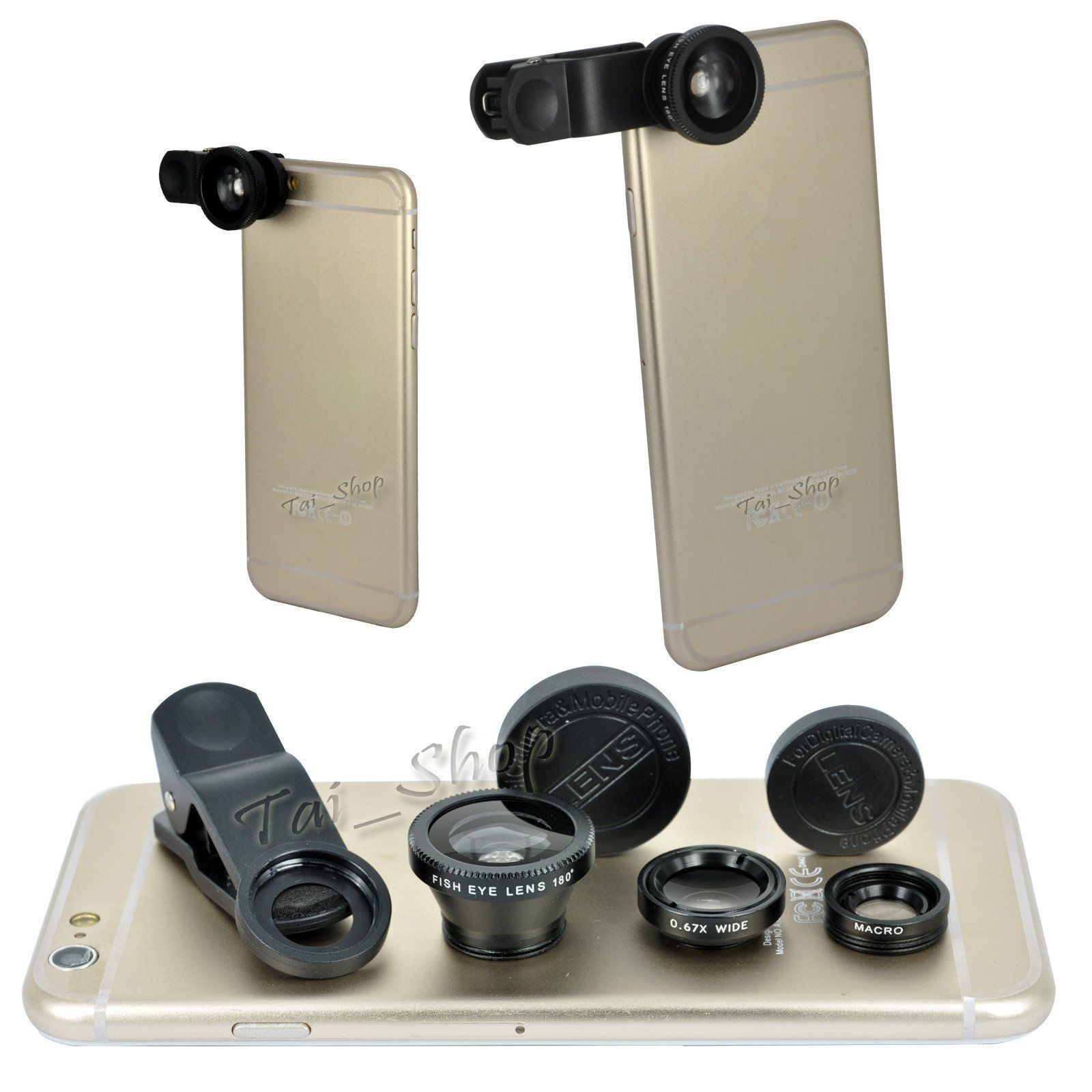 detailed look 5b20a 6b838 Details about Fish Eye Wide Angle Macro Camera Lens Accessory Pack ...