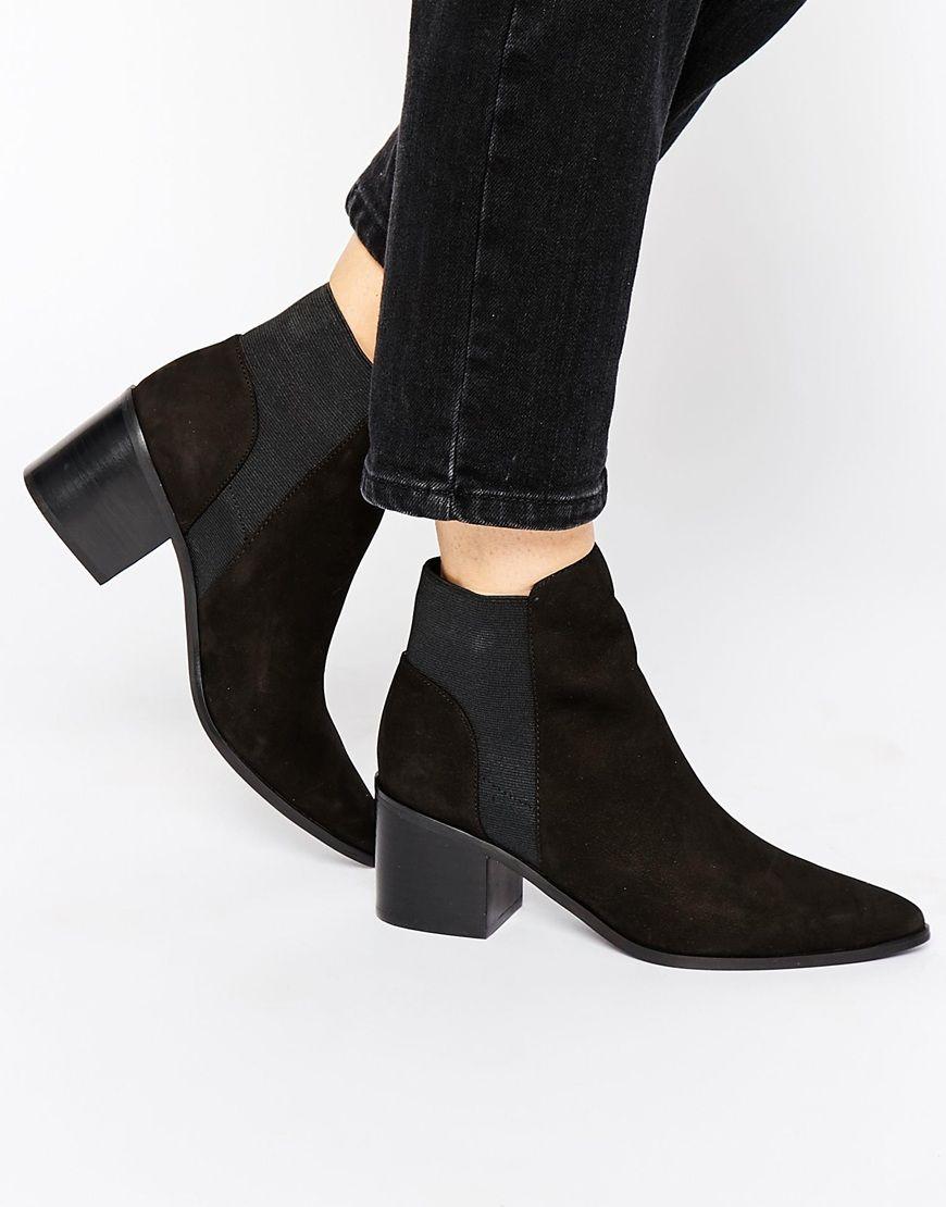 Buy Women Shoes / Aldo Etiweil Black Leather Heeled Chelsea Boots