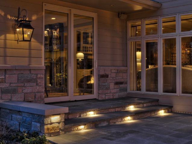 Lights in step house exterior pinterest patio lighting lights in step outdoor patio aloadofball Choice Image