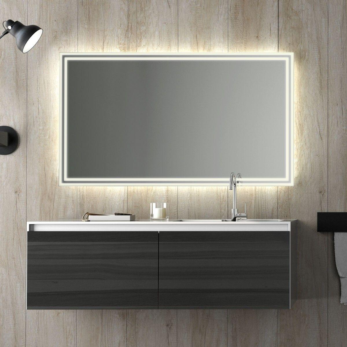 Lichtspiegel Milsan Lichtspiegel Badspiegel Beleuchtet Badspiegel Led