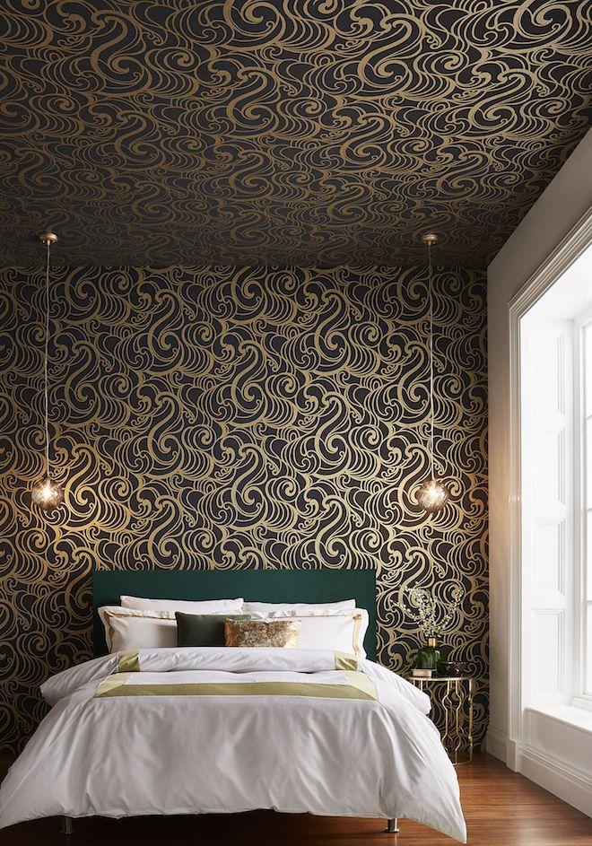 graham and brown behang in de slaapkamer interieur slaapkamer woonideen slaapkamer pinterest home decor wallpaper and decor
