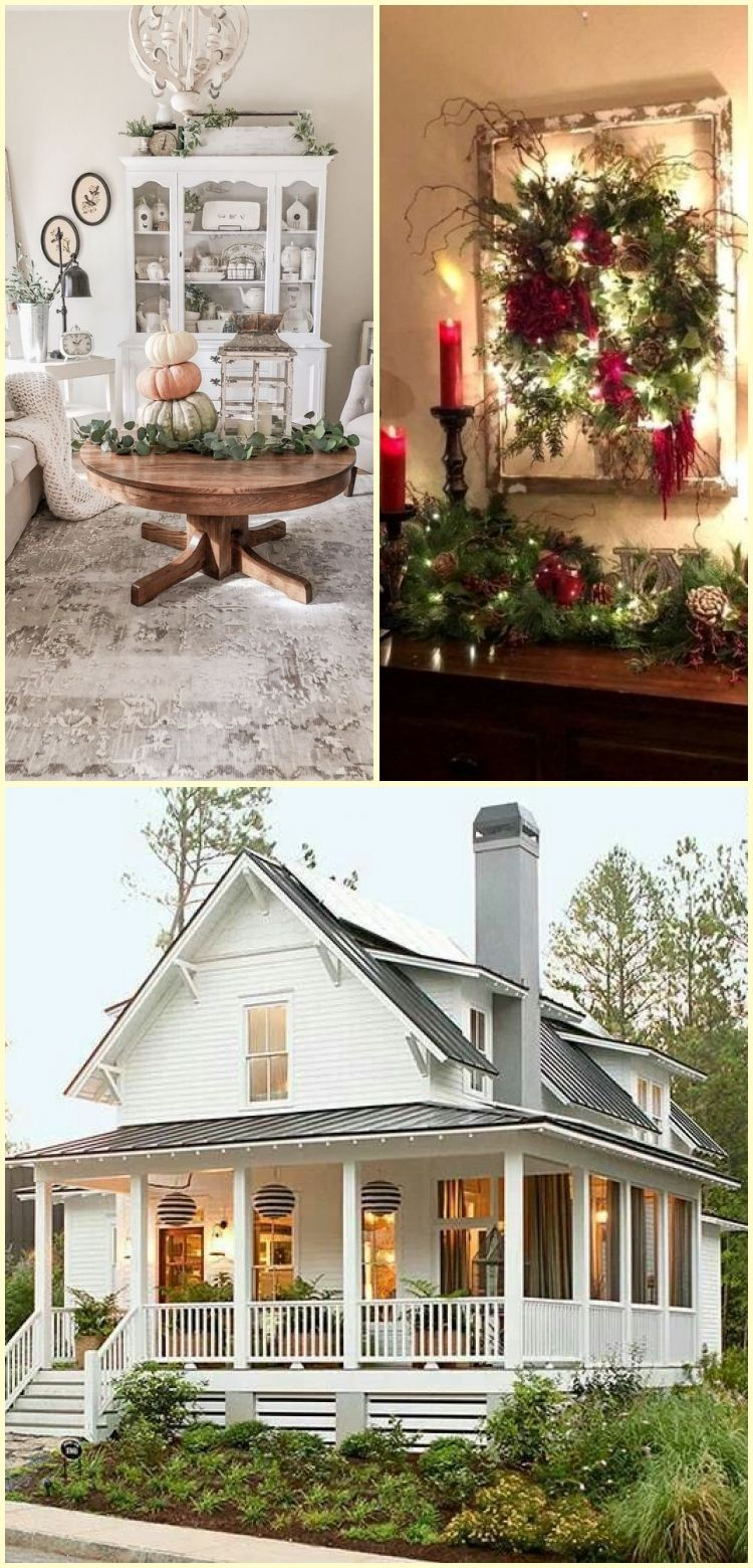 Neutral Fall Cottage Farmhouse Home Tour  Neutral white and green pumpkins sta Neutral Fall Cottage Farmhouse Home Tour  Neutral white and green pumpkins sta  Neutral Fal...