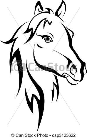 vector black horse silhouette stock illustration royalty free