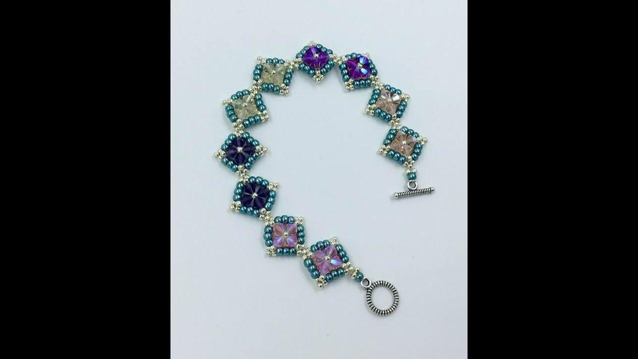 Colorful diamonds bracelet tutorial awesome beads bracelets