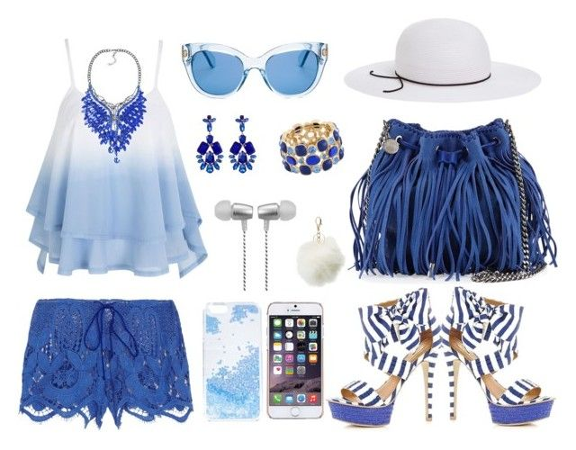 """""""Blue & White"""" by val-gab on Polyvore featuring Miguelina, STELLA McCARTNEY, Natasha Accessories, House of Lafayette, Kate Spade, Monet, Cynthia Rowley, Charlotte Russe, Skinnydip and Ted Baker"""