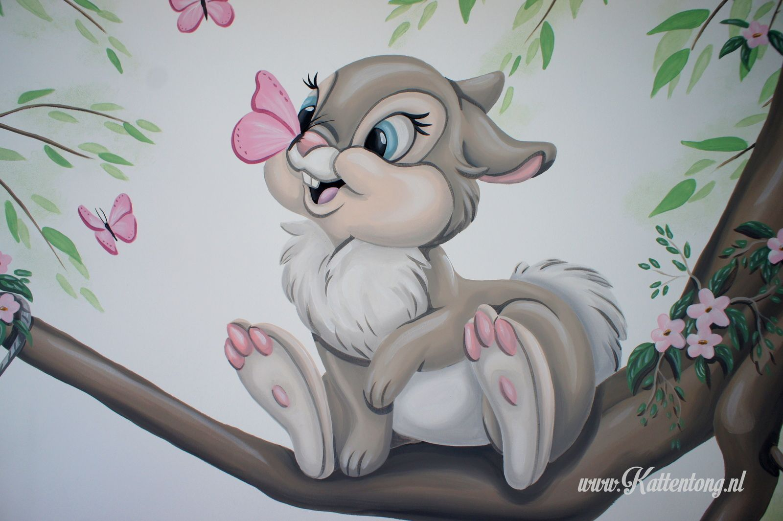 Muurschildering Disney Gemengd Stampertjes Vriendin Gemaakt Door Kattentong Decoratiewerken Disney Art Drawings Baby Animal Drawings Disney Drawings