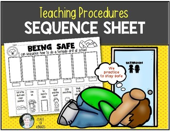 Teaching Procedures {How To Do a Tornado Drill} Sequence