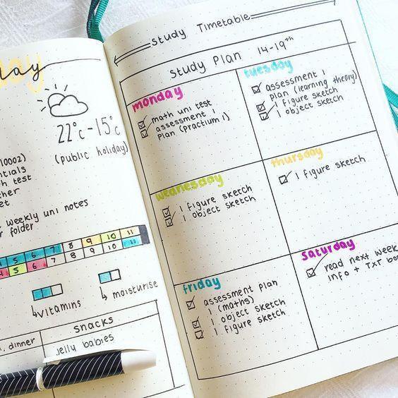 Bullet Journal For School Planner Organization Bullet Journal