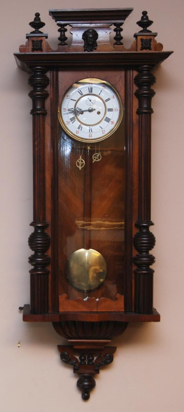Antique Continental Large Hanging Wall Clock Wall Clock Cartel