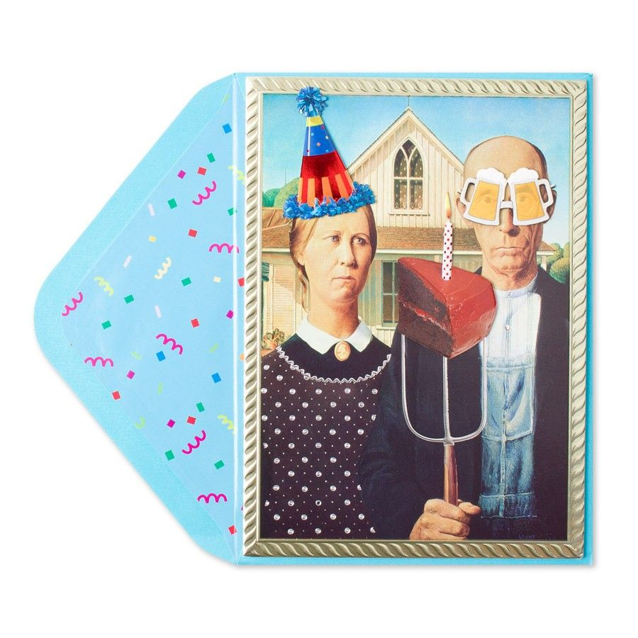 American Farmer & Wife Birthday Humor Card