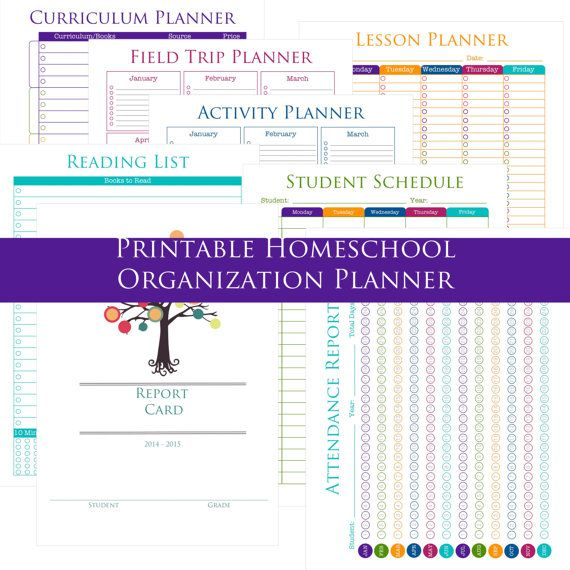 Page Printable Homeschool Organization Planner  Educational