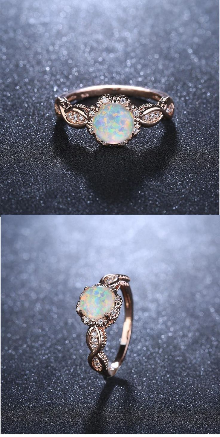 Virant opal rose gold ring -   15 wedding Rings opal ideas