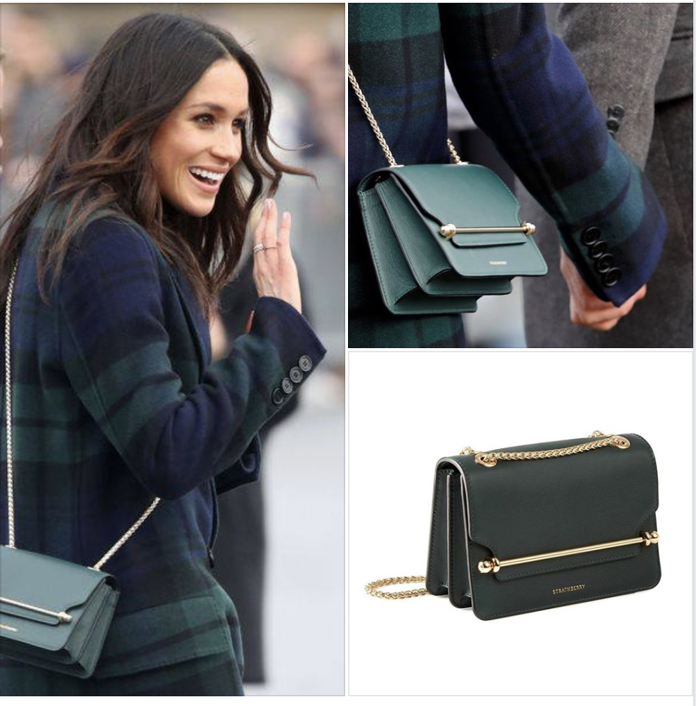View Meghan Markle Green Purse Background
