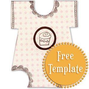 Onesie Template  Doosjes    Baby Cards