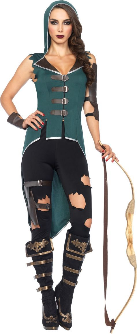 adult rebel robin hood costume is a tough twist on the classic legendary character robin hood costume for women includes shirt leggings garter arm cuff - Tough Girl Halloween Costumes