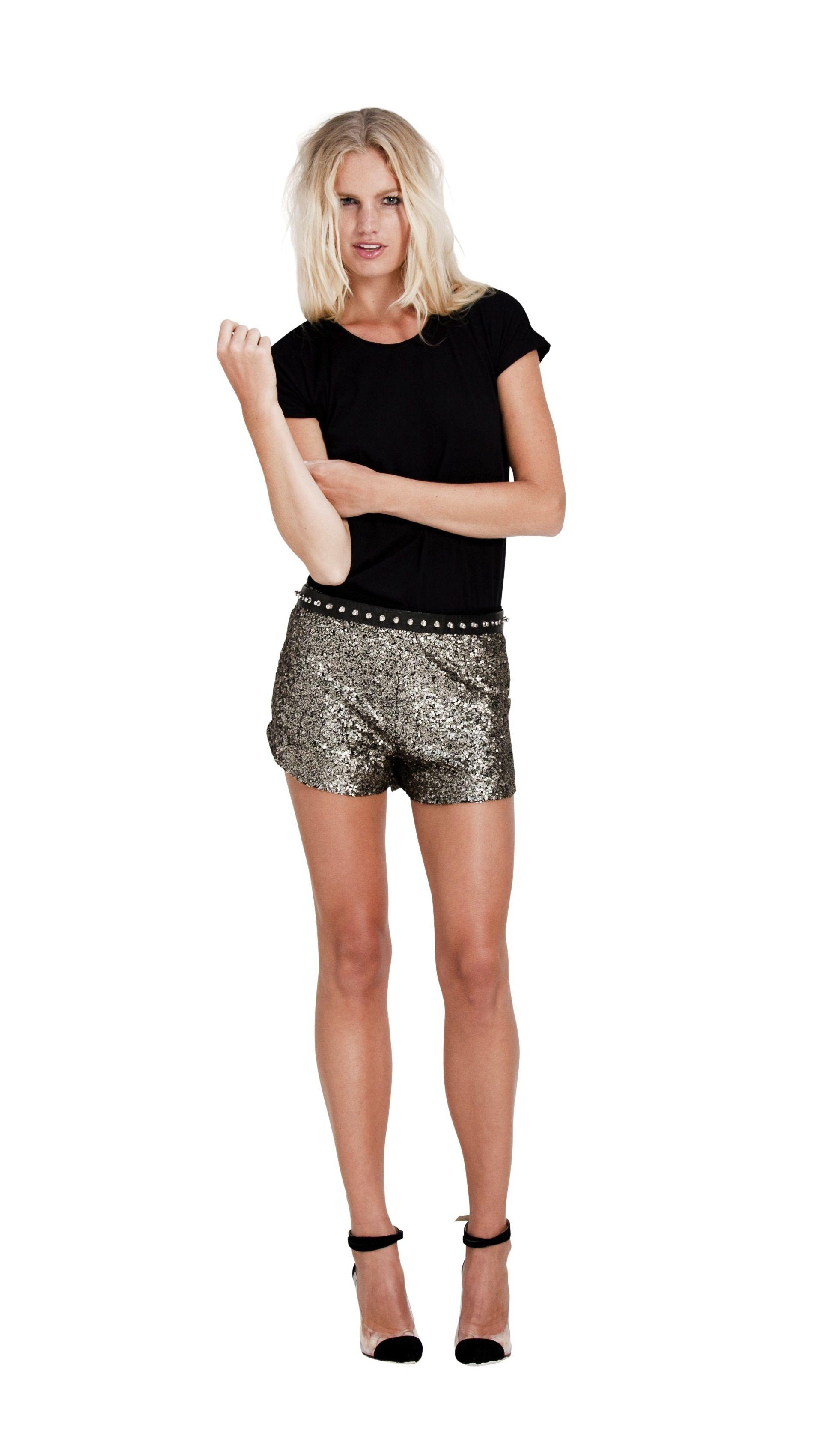 GOLD FINGER SEQUIN SHORTS - $69.50 : Jade Emily, Fashion E-Store