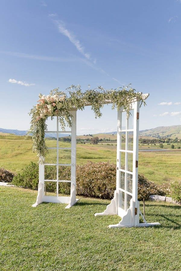 French door ceremony backdrop | Image by Gavin Farrington & Classic California Wedding at Taber Ranch | Pinterest | Backdrops ...