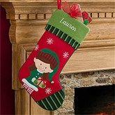 Girl Elf- Christmas Family Stocking - 6316-GE