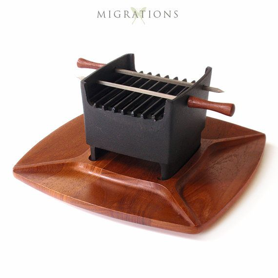 Marvelous Vintage Digsmed Tabletop Hibachi / Grill 1964 Denmark Mid Century