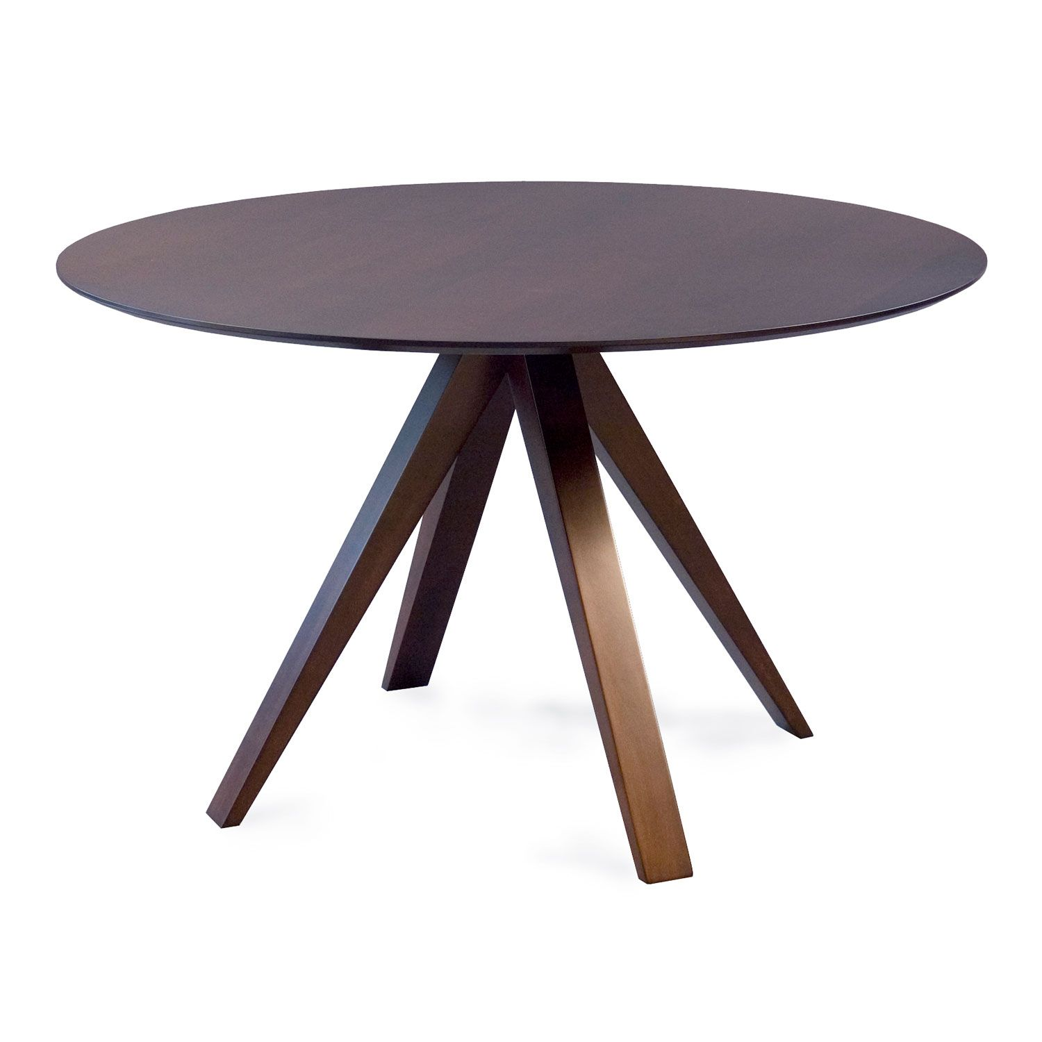 Nova 42 Inch Java Round Dining Table Saloom Furniture Dining