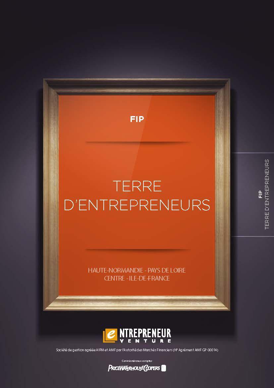 FIP Terre d'Entrepreneurs commercialisé par Entrepreneur Venture