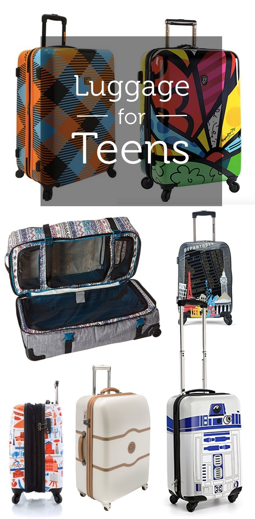 Luggage for Teens  The best and coolest luggage perfect for teen travelers. 3a4371dc159d5