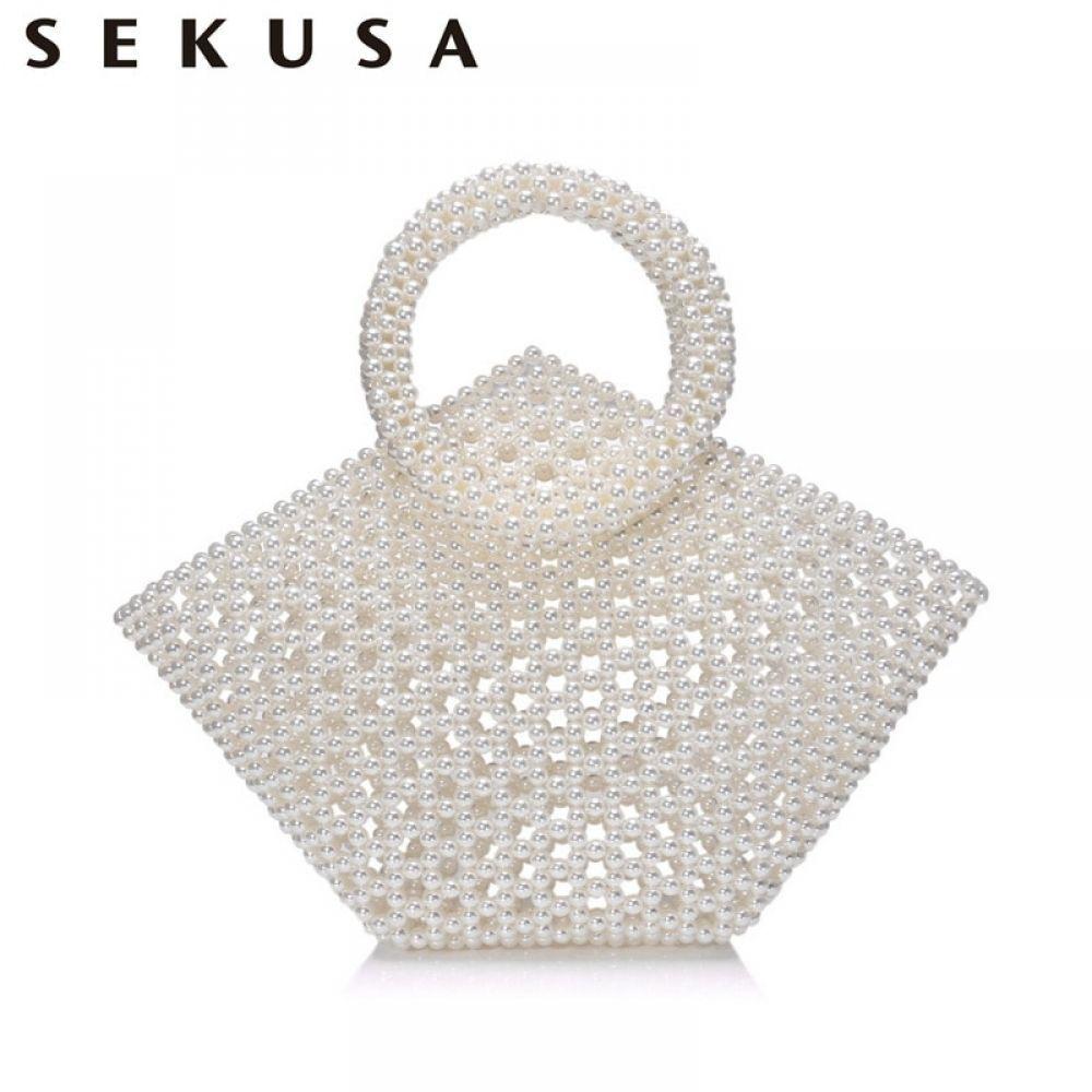 Sekusa Beaded Women Handbags Wedding Party Evening Bags Beading Pearl Bucket Vintage Purse Fashion Clutch,  #Bags #Beaded #Beading #Bucket #Clutch #evening #Fashion #Handbags #party #Pearl #Purse #Pursesandhandbagsorganizationdiy #Sekusa #vintage #wedding #Women