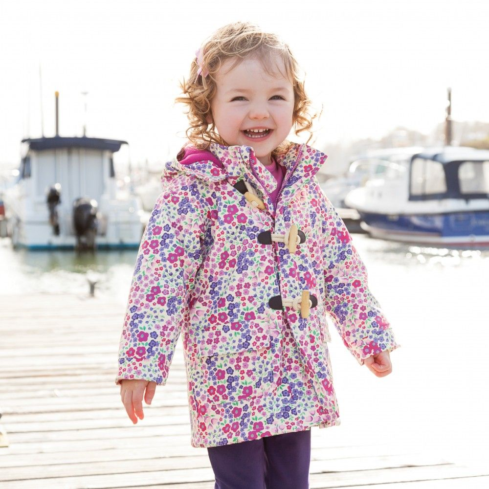 fed4af073276 Floral Fleece-Lined Fisherman s Coat