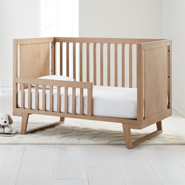 Cameron Ash Toddler Rail + Reviews | Crate and Barrel