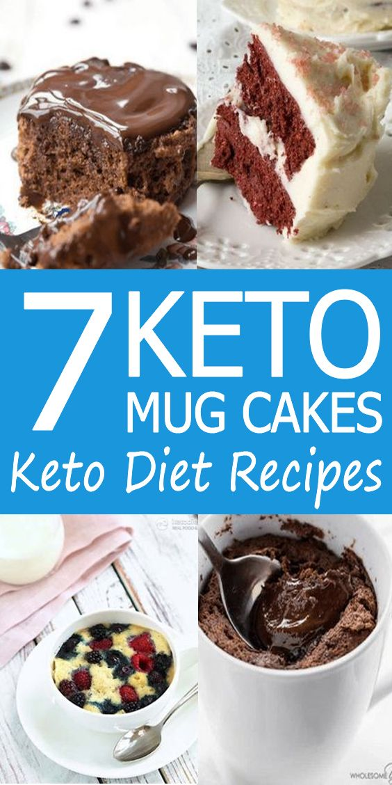 7 Keto Mug Cakes / Keto Diet Recipes #ketodietforbeginners