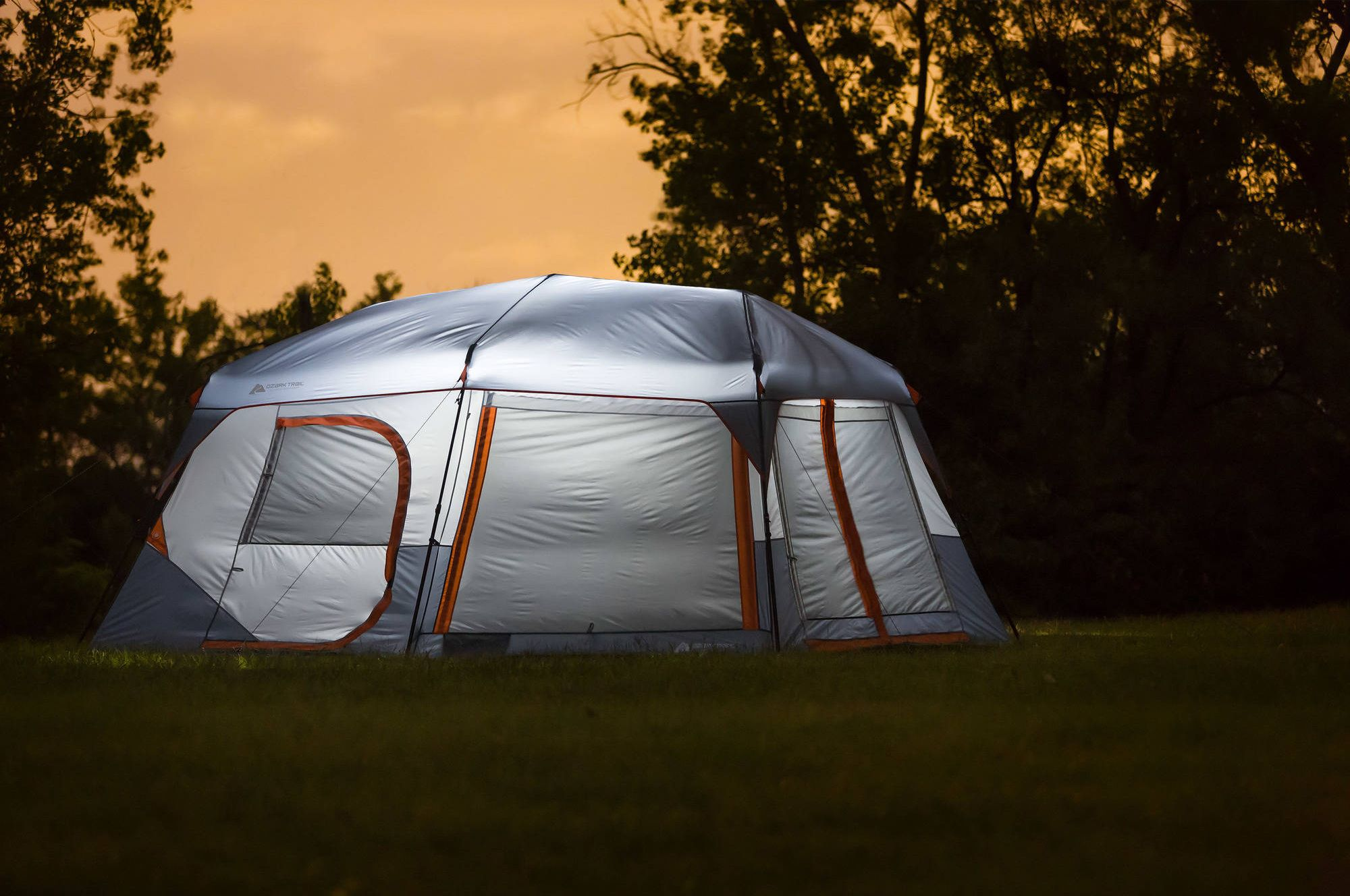 Ozark Trail 10 Person Instant Lighted Cabin Tent Camping