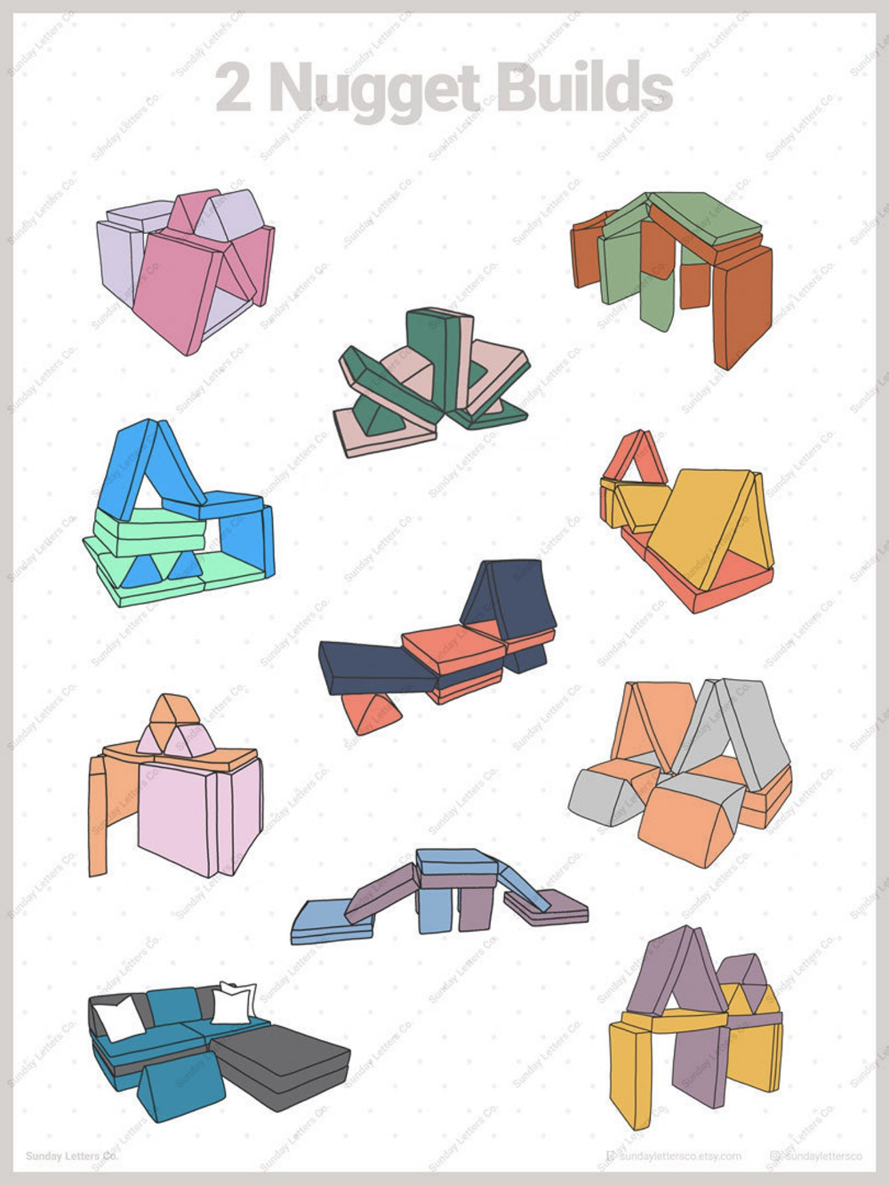 2 Nugget Builds Nugget Couch Ideas Minimalistic Poster ...