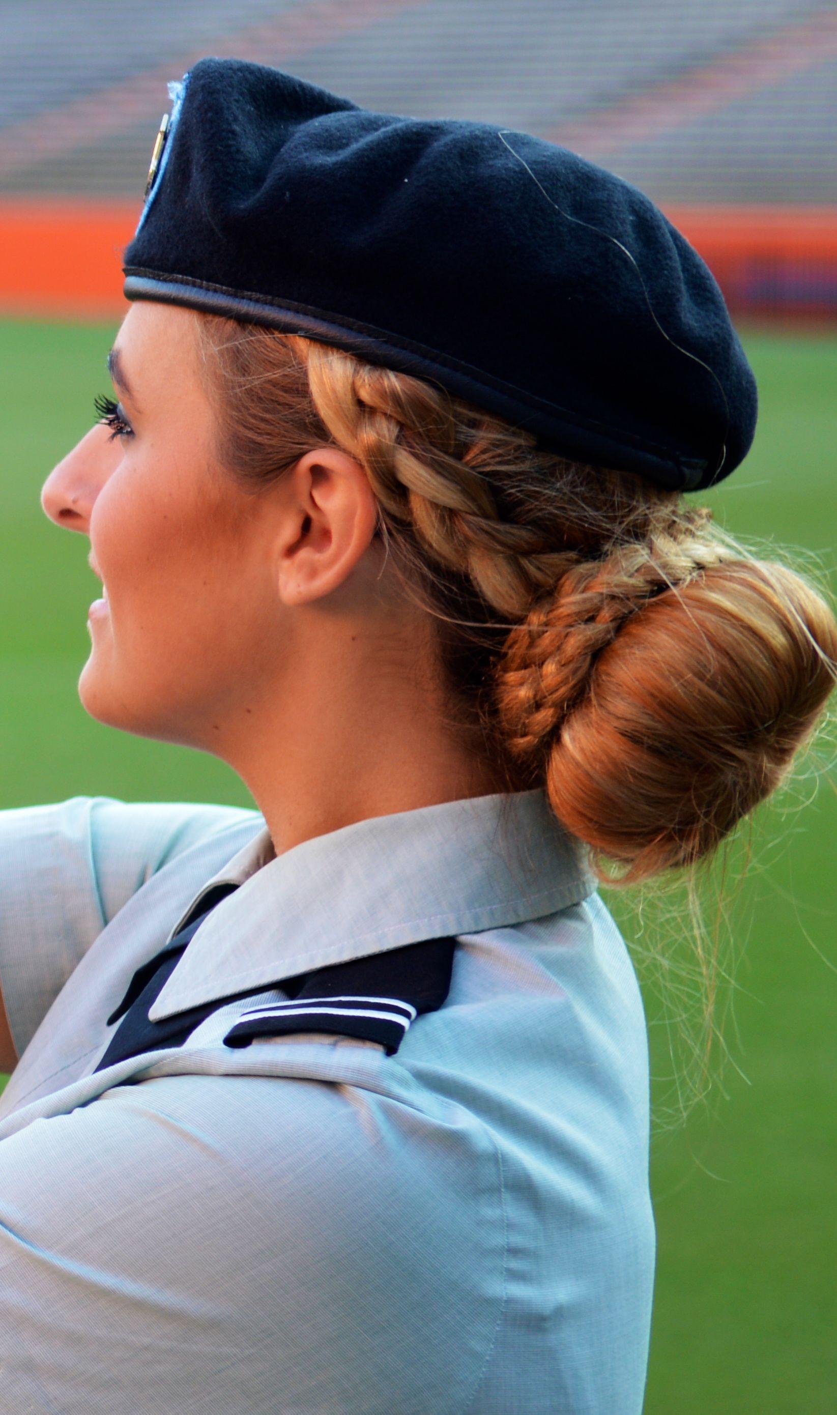 Military Hairstyle Army Uniform Bun Braid Keiras Kreations In
