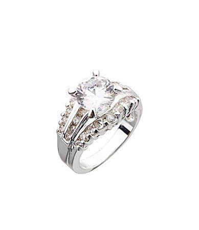 Dillards Boxed Collection CZ Wedding Ring #Dillards