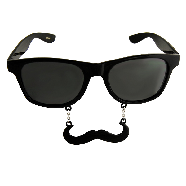 0f379f90956 Black Sun-Staches Sunglasses with an Attached Moustache