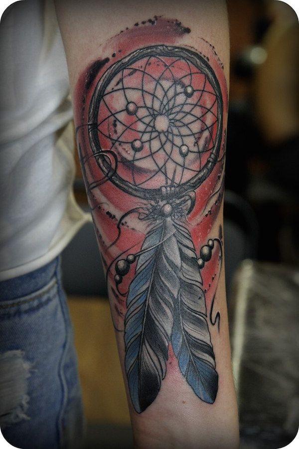 Populaire exemple tatouage attrape reve femme bras couleur   + # TATOUAGES  MA55