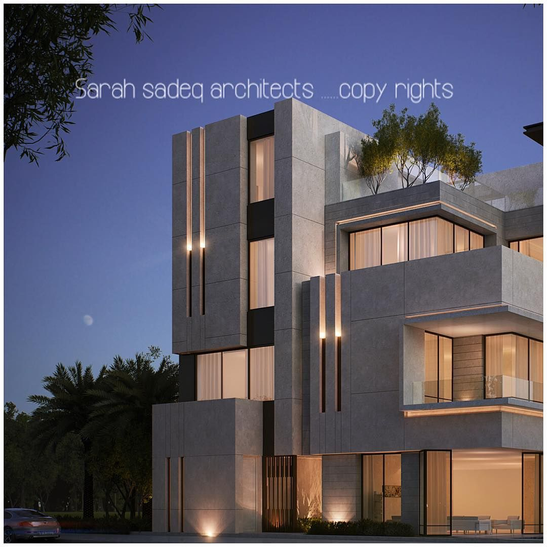 "Private Villa Sarah Sadeq Architects Kuwait: ""More To Come , 500 M ... When Lighting And Stone Roles"