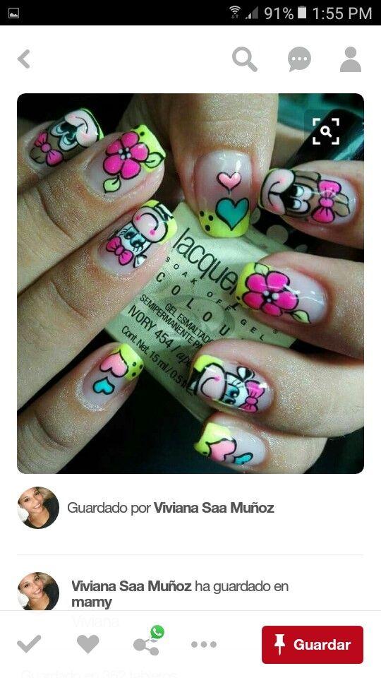Pin de johanna Bejarano Cruz en decoración de uñas | Pinterest ...