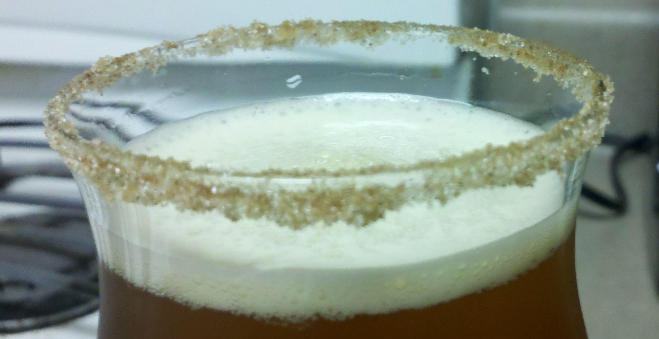 Yeah, We Tried It: Pumpkin Ale in Cinnamon/Sugar Rimmed Glass - Hoperatives