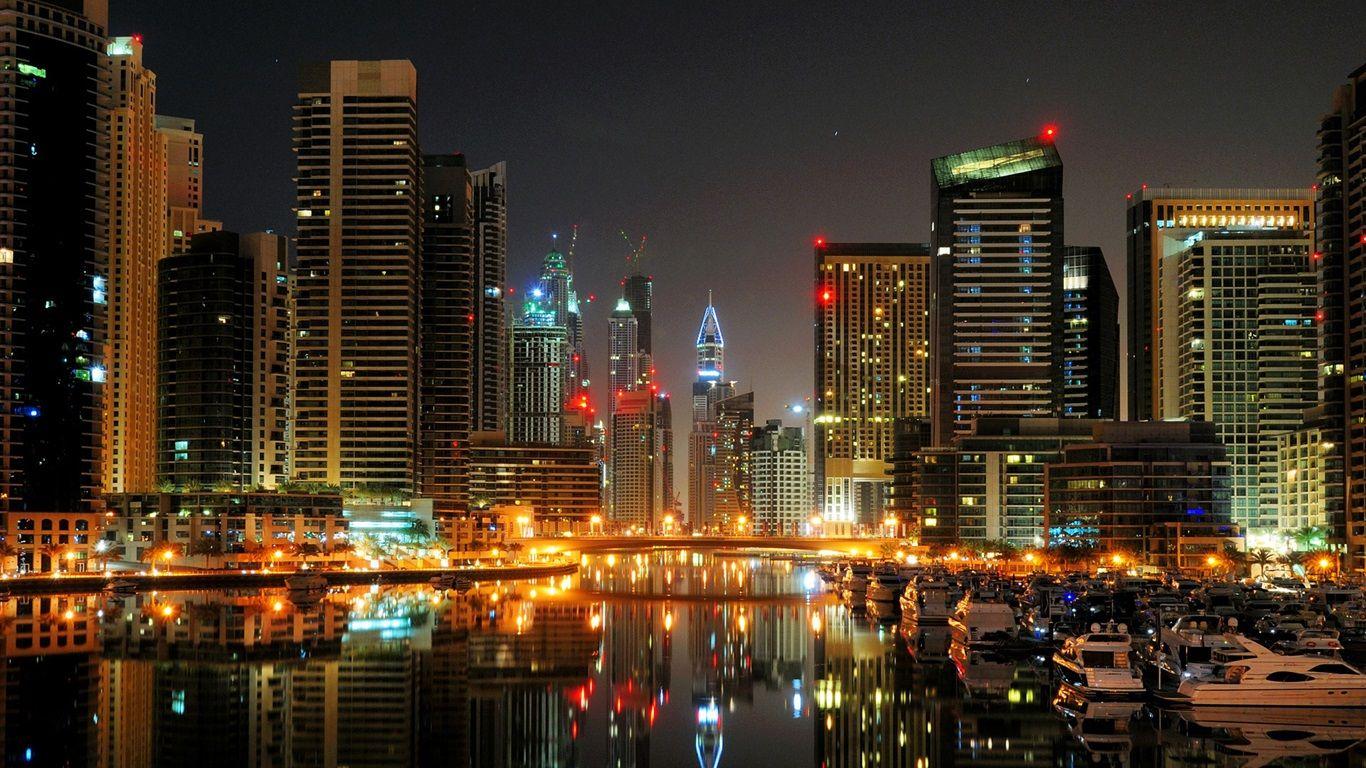 Edificios Dubai De Noche - Buscar Con Google