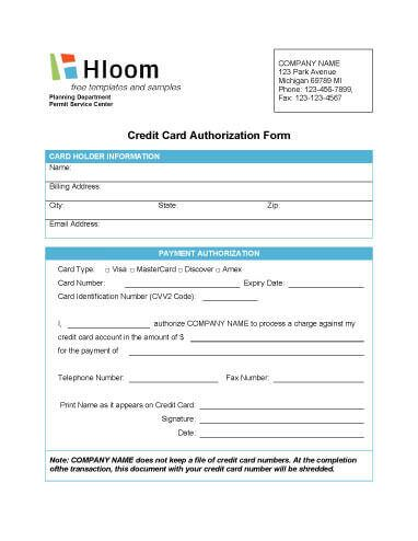 Simple Credit Card Authorization Form Rebiltyorg Pinterest - authorization form template